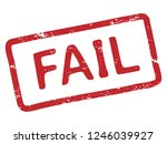 red fail stamp. grunge ink... | Shutterstock .eps vector #1246039927