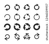 circle arrow icon. round arrows ... | Shutterstock .eps vector #1246039957
