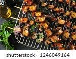 delicious juicy mushroom... | Shutterstock . vector #1246049164
