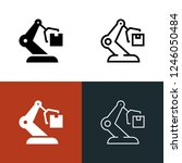 automated warehouse icon set | Shutterstock .eps vector #1246050484