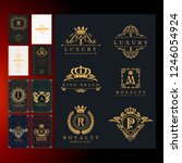 royal crown collection heraldy... | Shutterstock .eps vector #1246054924