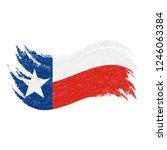 national flag of texas ... | Shutterstock .eps vector #1246063384