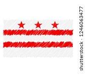 hand drawn national flag of...   Shutterstock .eps vector #1246063477