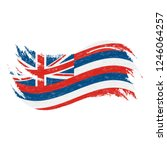 national flag of hawaii ... | Shutterstock .eps vector #1246064257