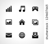 Stock vector web site vector icons set 124607665