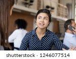 attractive female indian... | Shutterstock . vector #1246077514