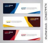 vector abstract banner design...   Shutterstock .eps vector #1246079974