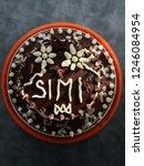 birthday cake chocolate  | Shutterstock . vector #1246084954
