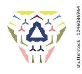 symmetry organized of various... | Shutterstock .eps vector #1246086964