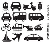 transportation icons set ... | Shutterstock . vector #124608871