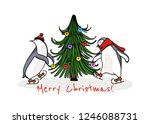 vector christmas card with hand ...   Shutterstock .eps vector #1246088731