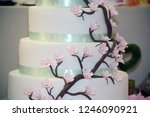 wedding cake decoration with... | Shutterstock . vector #1246090921