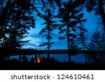 campfire summer with stars | Shutterstock . vector #124610461