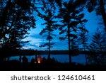 campfire summer with stars | Shutterstock . vector #124610461
