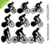 cycling silhouettes vector | Shutterstock .eps vector #124611295
