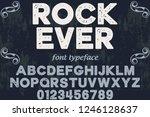 vintage font handcrafted vector ... | Shutterstock .eps vector #1246128637