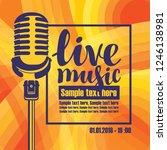 vector music poster for a... | Shutterstock .eps vector #1246138981