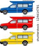 minibus. modify from mini truck.... | Shutterstock . vector #124614781