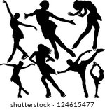 Figure Skating Silhouettes....