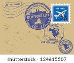 grunge rubber post stamps set...   Shutterstock .eps vector #124615507
