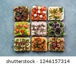 assortment vegan sandwiches on...   Shutterstock . vector #1246157314