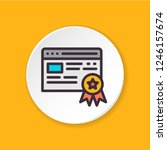 vector flat icon e certificate  ...