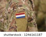 Flag Of Netherlands On Soldiers ...