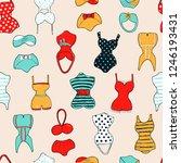 decorative seamless pattern... | Shutterstock . vector #1246193431