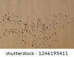Beach With The Word Sand...