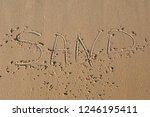 Beach With The Word Sand...