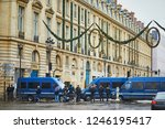 paris  france  december 1  2018.... | Shutterstock . vector #1246195417