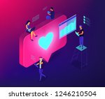 social media specialists and... | Shutterstock .eps vector #1246210504