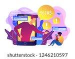 bully in smartphone harassing ... | Shutterstock .eps vector #1246210597