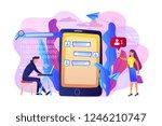 stalker with laptop controls...   Shutterstock .eps vector #1246210747