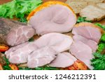 assortment of meat products...   Shutterstock . vector #1246212391