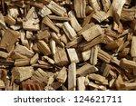 Closeup Of Wood Chip Path...
