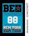 new york be yourself t shirt... | Shutterstock .eps vector #1246219657