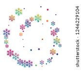 crystal snowflake and circle... | Shutterstock .eps vector #1246229104