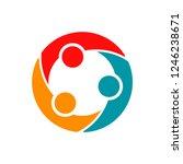 three entrepreneurs and... | Shutterstock .eps vector #1246238671