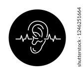 hearing test black icon  vector ... | Shutterstock .eps vector #1246251664