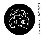 chaos theory black icon  vector ...   Shutterstock .eps vector #1246260094