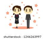 graduation ceremony   entrance... | Shutterstock .eps vector #1246263997