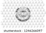 avant garde grey emblem....   Shutterstock .eps vector #1246266097