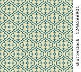 retro seamless ornamental... | Shutterstock .eps vector #1246266901