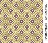 retro seamless ornamental... | Shutterstock .eps vector #1246266907