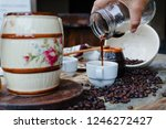 coffee  chocolate and sweet. | Shutterstock . vector #1246272427