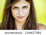 portrait close up of young... | Shutterstock . vector #124627381