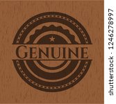 genuine badge with wooden... | Shutterstock .eps vector #1246278997