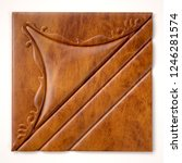 leather upholstery. detail of... | Shutterstock . vector #1246281574