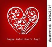 decorative valentine's day card | Shutterstock .eps vector #124628719